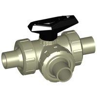+GF+ PROGEF Ball Valve 543 L-Port FPM w/ Spigots 20mm