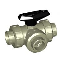 +GF+ PROGEF Ball Valve 543 T-Port FPM w/ Fus Sock. 16mm