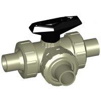 +GF+ PROGEF Ball Valve 543 T-Port FPM w/ Spigots 20mm