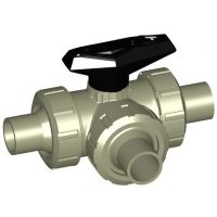 +GF+ PROGEF Ball Valve 543 T-Port FPM w/ Spigots 32mm