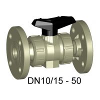 +GF+ PROGEF Ball Valve 546 EPDM w/ Ins., Fixed Flanges 20mm