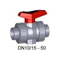 +GF+ ABS Ball Valve 546 EPDM with Mounting Insert 20mm