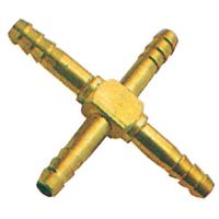 "Brass Equal Cross Hose Tail 3/8"""