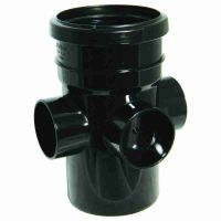 FloPlast Grey PVC-U SP581 Boss Pipe Socket/ Spigot 110mm