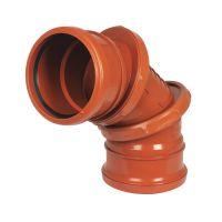 FloPlast D560 0-90 Degree Adjustable Bend Dbl Socket 110mm