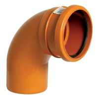 FloPlast D161 87.5 Degree Bend Single Socket 110mm