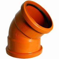 FloPlast D563 45 Degree Bend Double Socket 110mm