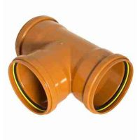 FloPlast D191 87.5 Degree Equal Junction Triple Socket 110mm