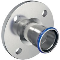 Mapress St.St. Flange PN 10/16, w/ Pressing Socket d18mm