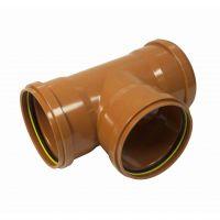 FloPlast 6D191 87.5 Deg Equal Junction Triple Socket 160mm