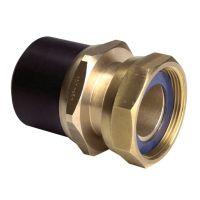 "GF ELGEF Spigot Adaptor PE-Brass w. Loose Nut 32 x 1 1/4"""