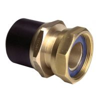 "GF ELGEF Spigot Adaptor PE-Brass w. Loose Nut 63 x 2"""