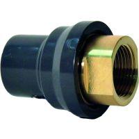 "+GF+ PVC-U Adapt Skt/Spgt Brass Rp 20mm/25mm - 1/2"""