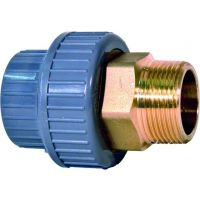 +GF+ ABS Adaptor Union Brass Male Thread 20mm - 1/2""