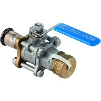 Mapress CuNiFe Ball Valve with Hose Connector 22mm x 1""