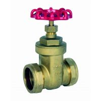 ART615 Brass Gate Valve Compression Ends 22mm