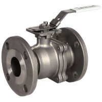 ART928 2-Pc St.St. Ball Valve Flanged ASA 150 1/2""
