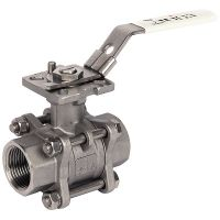 ART993H 3-Pc St.St. Ball Valve BSP Taper F/F Ends ISO 1/4""