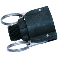 PP Male Threaded Coupling BSPT 1""