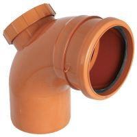 FloPlast D169 87.5 Degree Access Bend Single Socket 110mm