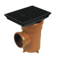 FloPlast D520 Bottle Gully Square Grid