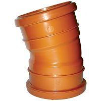 FloPlast D567 15 Degree Bend Double Socket 110mm