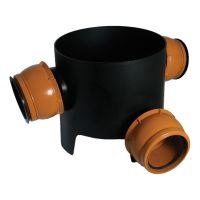 FloPlast D802 90 Deg Multi Chamber Base 3x110mm