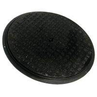 FloPlast D923 Cast Iron Cover and Plastic Frame