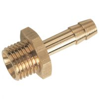 "Brass 60 Degree Coned Seat M.I. BSPP x Hose Tail 1/4""x1/4"""