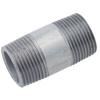 Heavy Duty 80mm Galvanised Nipples Male BSPT 1/4""
