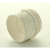 Marley White Waste MUPVC Iron Adaptor Male 50mm