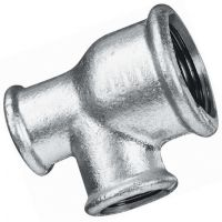 "Galvanised Unequal Run Tee 1/2"" x 3/8"" x 3/8"""