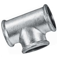 Galvanised Equal Tee Female BSPP 2""