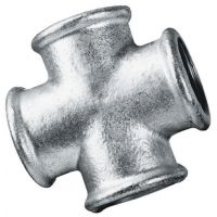 Galvanised Equal Cross Female BSPP 1/2""