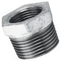"Galvanised Red. Bush Male/Female BSPT/BSPP 1 1/2"" x 1/2"""