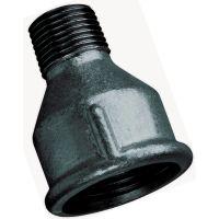 "Black Reducing Socket Male/Female BSPT/BSPP 1 1/4"" x 1"""