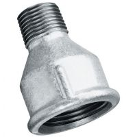 "Galvanised Reducing Socket Male/Female BSPT/BSPP 3/4"" x 1/2"""