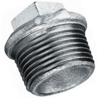 Galvanised Beaded Hollow Plug BSPT 3/8""