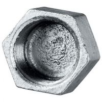 Galvanised Hexagonal Cap Female BSPP 1/2""