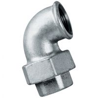 Galvanised 90 Degree Elbow Taper Seat Female BSPP 3/8""
