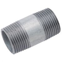 Medium Duty 100mm Galvanised Nipples Male BSPT 1/4""