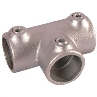 Handrail Pipe Clamp Long Tee 1 1/4""