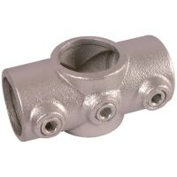 "Handrail Pipe Clamp Two Socket Cross 1 1/4"" x 1 1/4"""