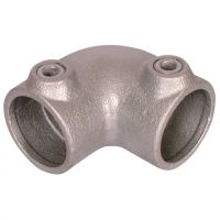 Handrail Pipe Clamp Two Way 90 Degree Elbow 1 1/4""