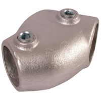 Handrail Pipe Clamp Adjustable Tee 1 1/2""