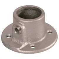 Handrail Pipe Clamp Wall Plate 1""