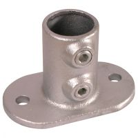 Handrail Pipe Clamp Base Plate 1""