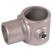 Handrail Pipe Clamp Offset Swivel Tee 1 1/2""
