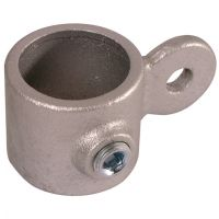 Handrail Pipe Clamp Single Male Swivel 1 1/2""