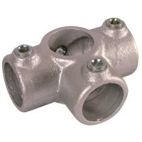 Handrail Pipe Clamp Three Way Outlet Tee 1 1/2""